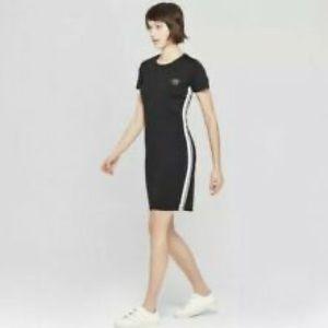 Umbro black short sleeve bodycon dress